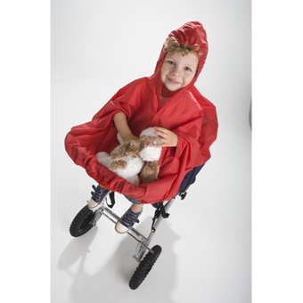 Babies Waterproof Raincape on Buggy.