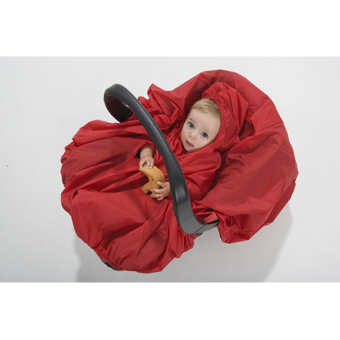 Babies Waterproof Raincape over Car Seat.