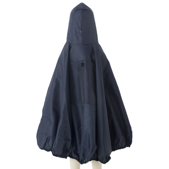 Babies Raincape Back View in Navy.