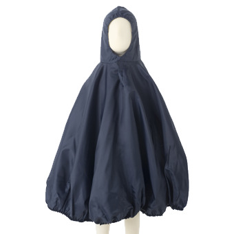Baby Waterproof Raincape Front View in Navy.
