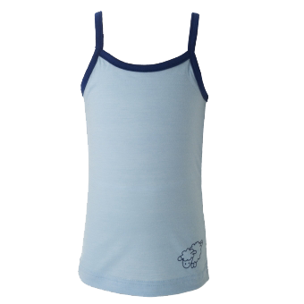 Merino Camisole Top in Blue.