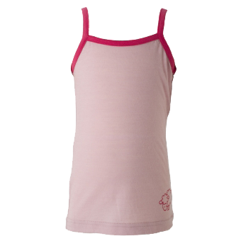 Merino Camisole Top in Pink.