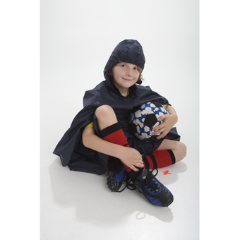 Kids Waterproof Raincape a Must for Weekend Sport.