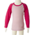 Long Sleeve Kids Merino Top in Pink.