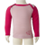 Merino Baby Long Sleeve Top in pink.