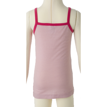 Merino Kids Camisole Top Back Shot in pink.
